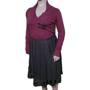Le Chateau   Wool Blend Cowl Neck Sweater